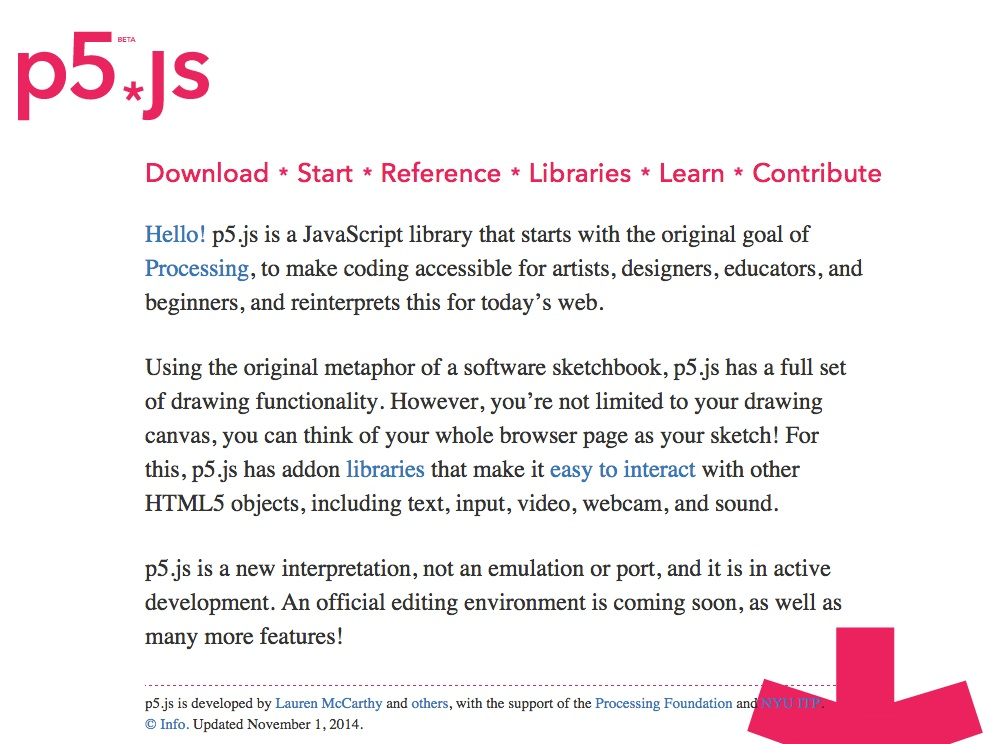 Processing – p5 js, a javascript library that translate