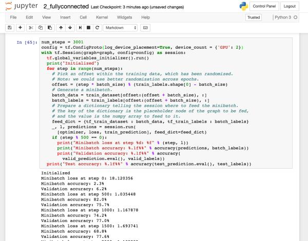 Udacity Deep Learning – Desktop into remote GPU server | datafireball